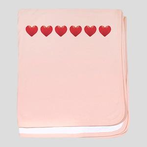 Heart Strip Baby Blanket