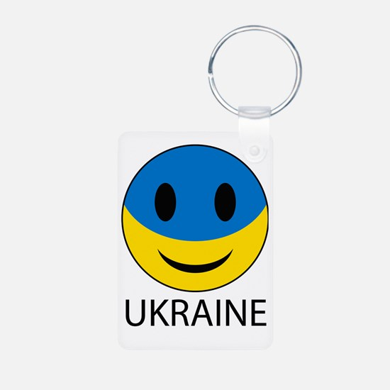 Ukrainian smiley face Keychains