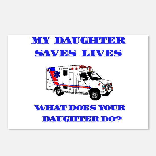 Ambulance Saves Lives-Daughte Postcards (Package o