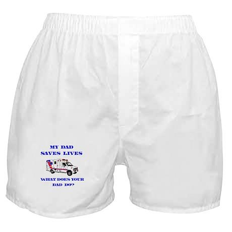 Ambulance Saves Lives-Dad Boxer Shorts