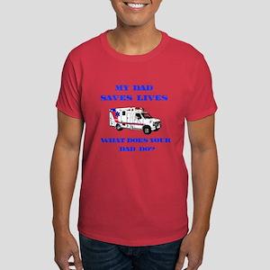 Ambulance Saves Lives-Dad Dark T-Shirt
