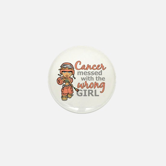 Combat Girl Uterine Cancer Mini Button