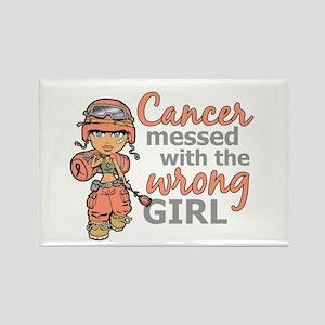 Combat Girl Uterine Cancer Rectangle Magnet