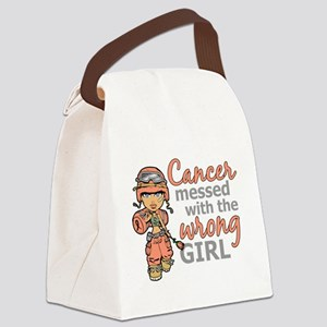 Combat Girl Uterine Cancer Canvas Lunch Bag