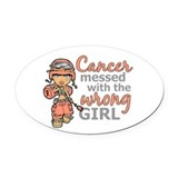 Cancer Oval Car Magnets