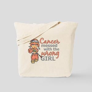 Combat Girl Uterine Cancer Tote Bag