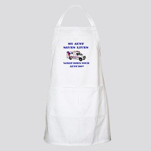 Ambulance Saves Lives-Aunt BBQ Apron