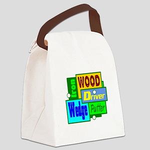 Golf Clubs Design Canvas Lunch Bag
