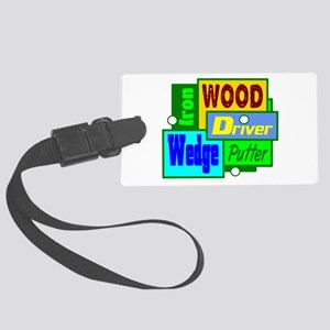 Golf Clubs Design Luggage Tag