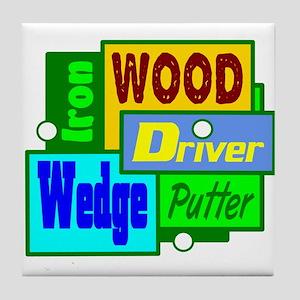 Golf Clubs Design Tile Coaster