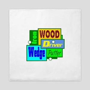 Golf Clubs Design Queen Duvet