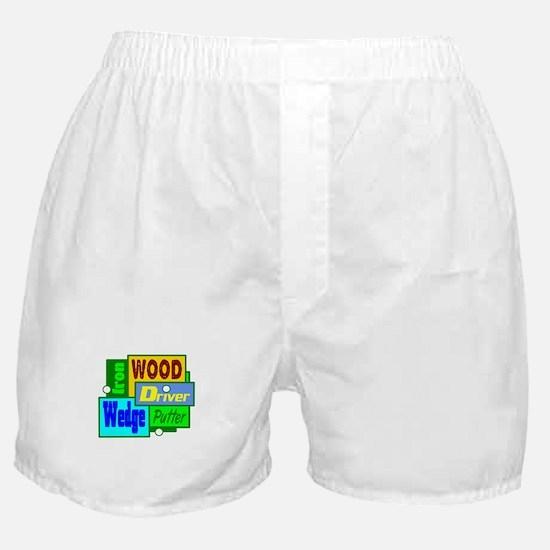 Golf Clubs Design Boxer Shorts