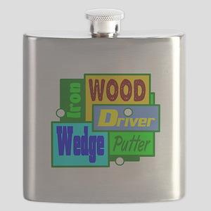 Golf Clubs Design Flask