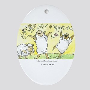 Psalm 23: 3a Ornament (Oval)