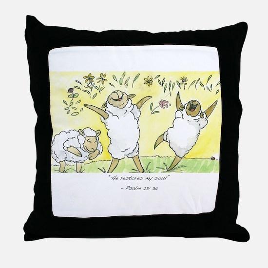 Psalm 23: 3a Throw Pillow