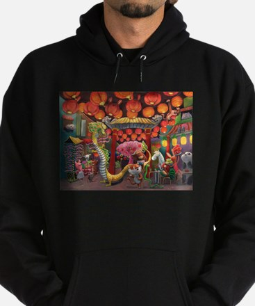Animals of China Town Hoodie