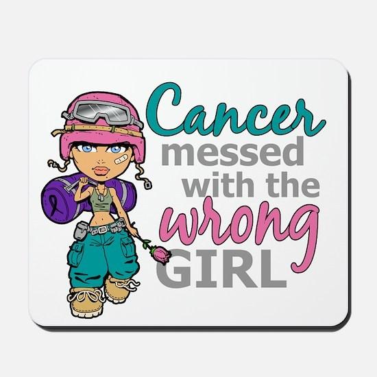 Combat Girl Thyroid Cancer Mousepad