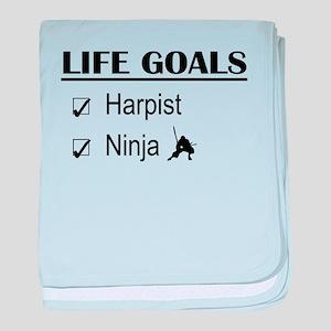 Harpist Ninja Life Goals baby blanket