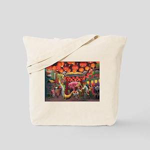 Animals of China Town Tote Bag
