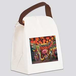 Animals of China Town Canvas Lunch Bag
