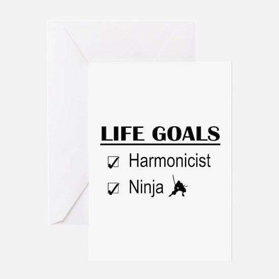 Harmonicist Ninja Life Goals Greeting Card