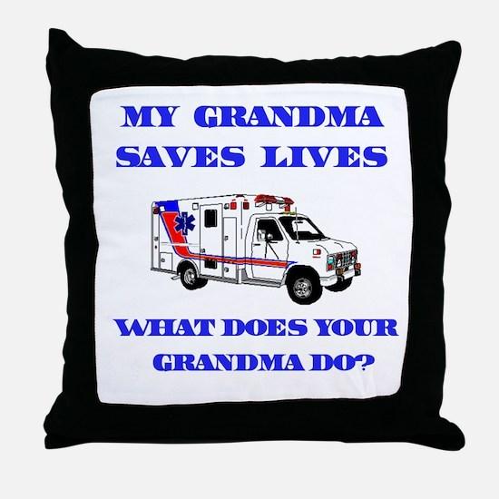 Ambulance Saves Lives-Grandma Throw Pillow