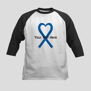 Personalized Blue Ribbon Hear Kids Baseball Jersey