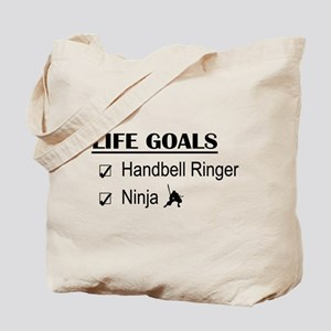 Handbell Ringer Ninja Life Goals Tote Bag