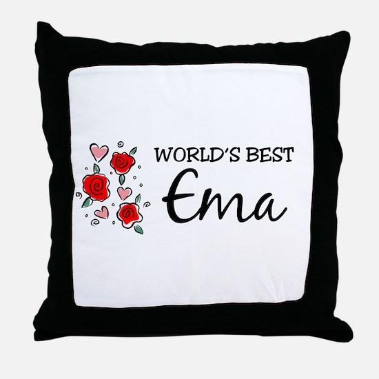 WB Mom [Estonian] Throw Pillow