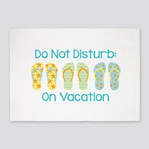 Do Not Disturb: On Vacation 5'x7'Area Rug