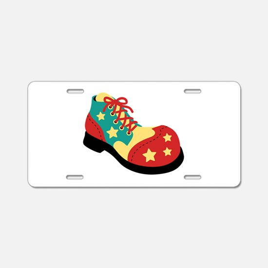 Circus Clown Shoe Aluminum License Plate