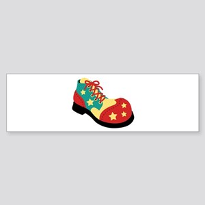 Circus Clown Shoe Bumper Sticker