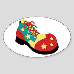Circus Clown Shoe Sticker