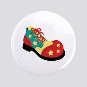 "Circus Clown Shoe 3.5"" Button"