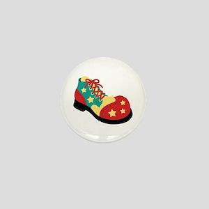 Circus Clown Shoe Mini Button