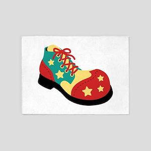 Circus Clown Shoe 5'x7'Area Rug