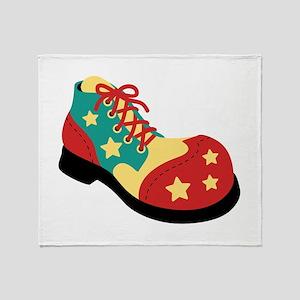 Circus Clown Shoe Throw Blanket