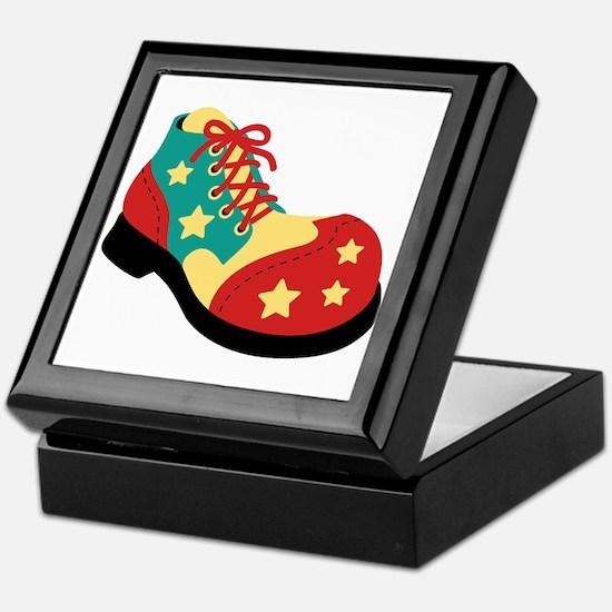 Circus Clown Shoe Keepsake Box