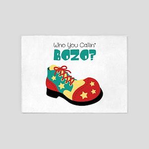 who you callin BOZO? 5'x7'Area Rug