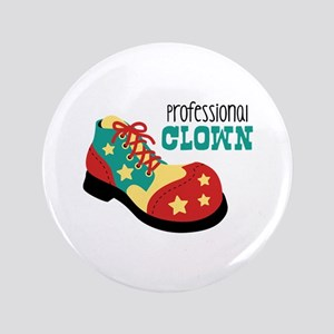 "Professional Clown 3.5"" Button"