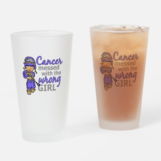Combat Girl Stomach Cancer Drinking Glass