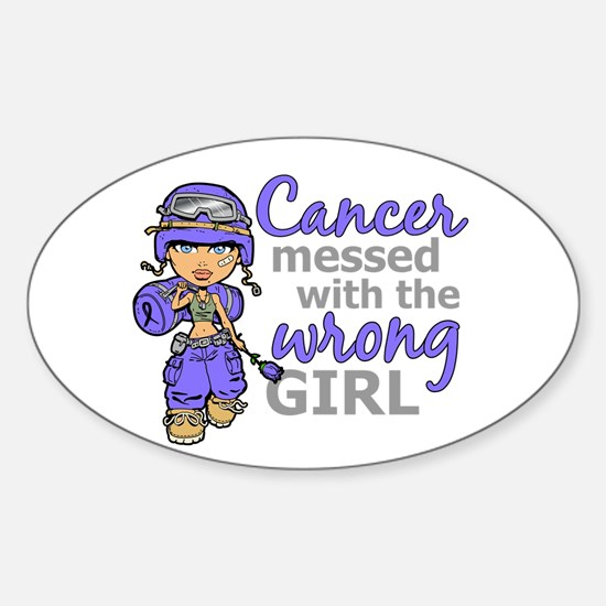 Combat Girl Stomach Cancer Sticker (Oval)