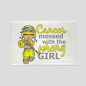 Combat Girl Sarcoma Rectangle Magnet