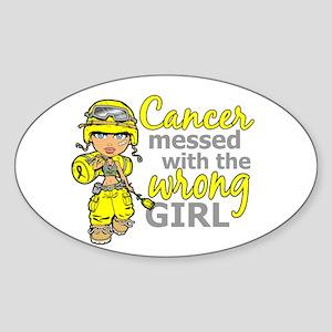 Combat Girl Sarcoma Sticker (Oval)