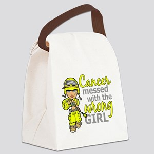 Combat Girl Sarcoma Canvas Lunch Bag