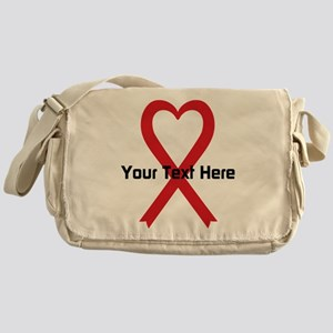 Personalized Red Ribbon Heart Messenger Bag