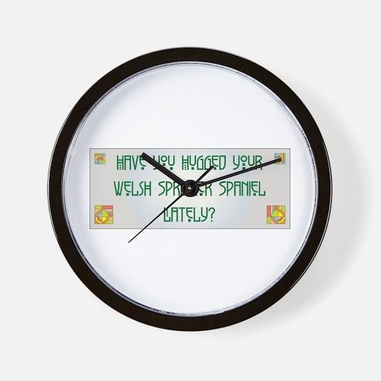 Hugged Welshie Wall Clock