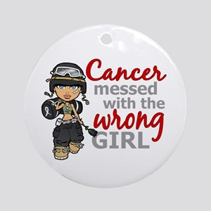 Combat Girl Skin Cancer Ornament (Round)