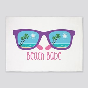 Beach Babe 5'x7'Area Rug