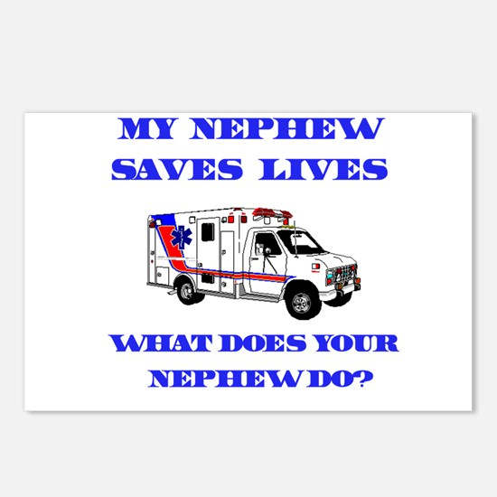 Ambulance Saves Lives-Nephew Postcards (Package of